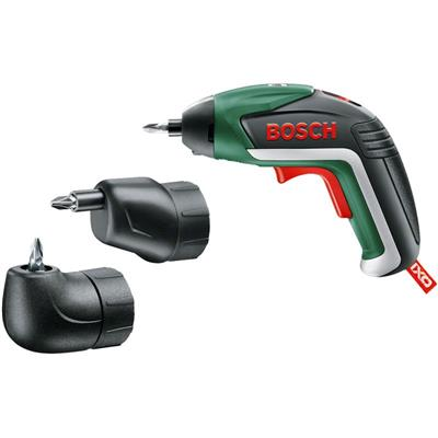 Bosch IXO ʅth Gen) Lithium-Ion Cordless Screwdriver (Inc Off-Set & Angle Adapters)