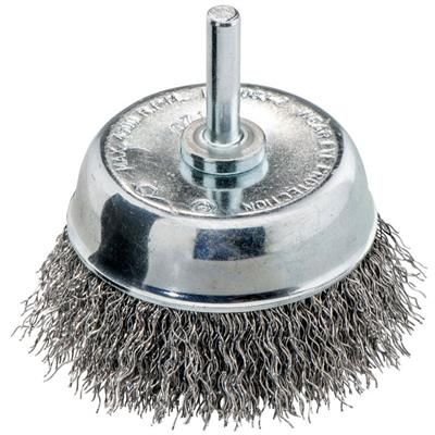 Metabo 630552000 Cup brush 75x0.30 mm/ 6 mm, crimped steel