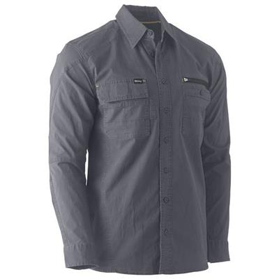 Bisley UKS6144 Flex & Move Utility Work Shirt - Charcoal