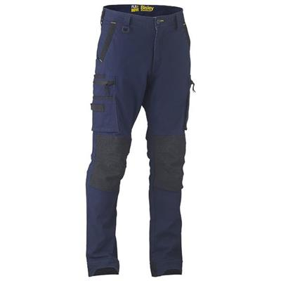 Bisley UKPC6333 Flex & Move Stretch Utility Cargo Trouser with Kevlar Knee Patches - Reg Length - Navy