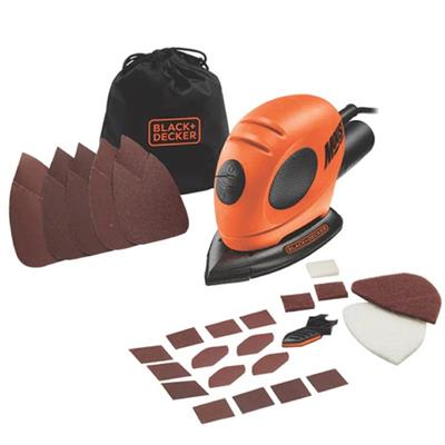 Black & Decker KA161BC 55W Mouse Detail Sander + 15 Accessories