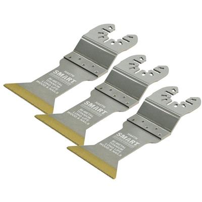 Smart H44TN3 44mm Titanium Coated Bi-Metal Wood & Nail Quick Release Blades - Pack of 3