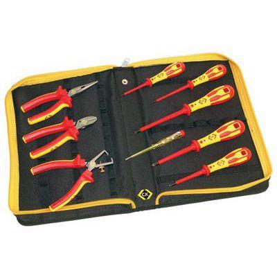 ck 331001 vde pliers and screwdrivers kit 9 piece pz sl tips combicutter1 miles tool. Black Bedroom Furniture Sets. Home Design Ideas