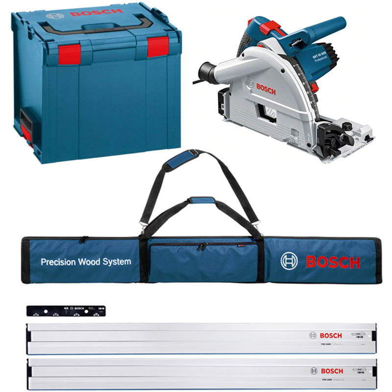 bosch gkt 55 gce circular professional plunge saw special offer kit miles tool machinery centre