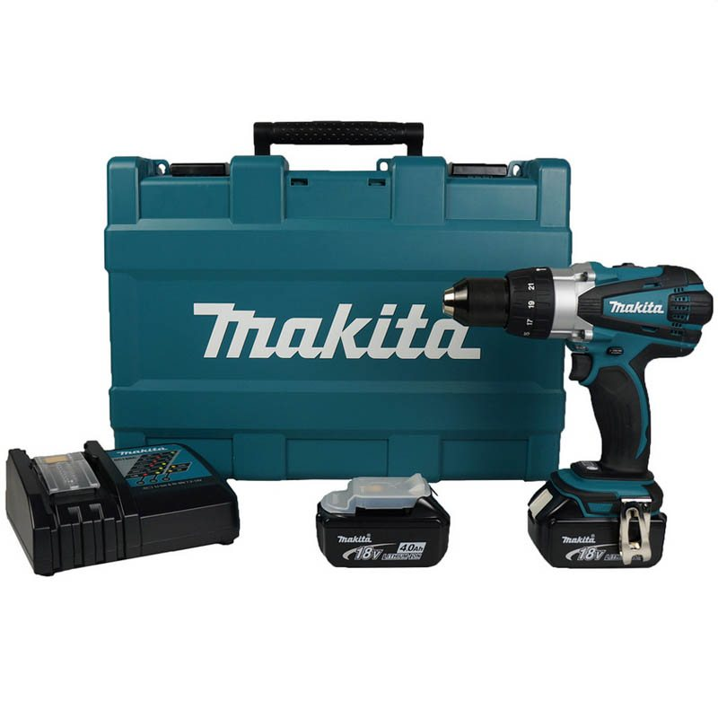 makita dhp458rme lxt 18 volt cordless li ion combi drill. Black Bedroom Furniture Sets. Home Design Ideas