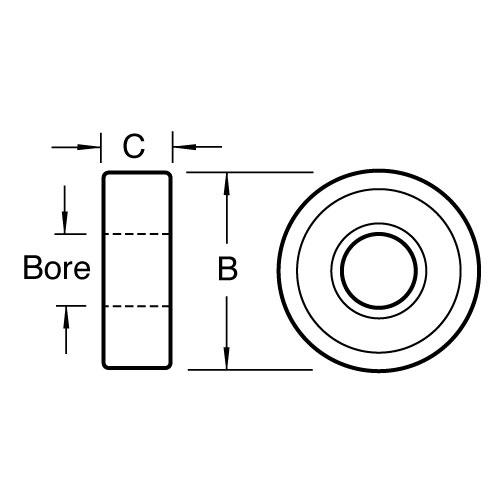 trend b254 bearing 25 4mm diameter 1  4 inch bore